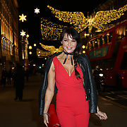 Lizzie Cundy attends the Aspinal of London store on Regent's Street St. James's on December 5, 2017 in London, England.