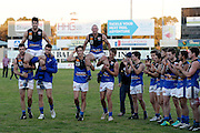 WAFL Elimination Final - Peel Thunder v East Perth Royals at Bendigo Bank Stadium, Mandurah. Photo by Daniel Wilkins. PICTURED- East Perth players chair off retiring club champions Paul Johnson and Craig Wulff