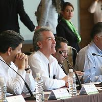 Valle de Bravo,  Mex -  Alfonso Petersen Farah Secretario Tecnico del Consejo Nacional de Salud durante la XXI Reunion Ordinaria del Consejo Nacional de Salud.   Agencia MVT / Jose Hernandez.