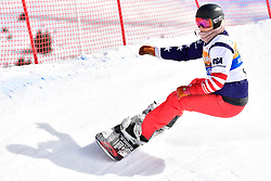 HUCKABY Brenna, SB-LL1, USA, Banked Slalom at the WPSB_2019 Para Snowboard World Cup, La Molina, Spain