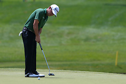 June 22, 2018 - Cromwell, Connecticut, United States - Brian Harman putts the 8th green during the second round of the Travelers Championship at TPC River Highlands. (Credit Image: © Debby Wong via ZUMA Wire)