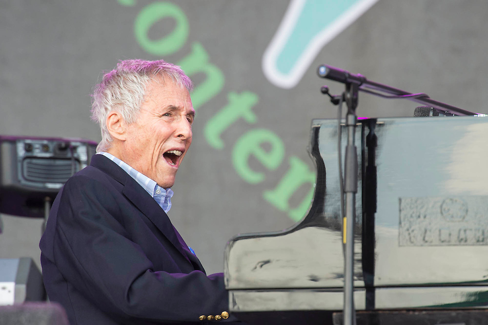 Burt Bacharach performs on the Pyramid Stage. The 2015 Glastonbury Festival, Worthy Farm, Glastonbury.