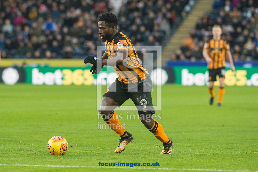 Nouha Dicko of Hull City pushes forward during the Sky Bet Championship match at the KCOM Stadium, Hull<br /> Picture by Matt Wilkinson/Focus Images Ltd 07814 960751<br /> 26/12/2017