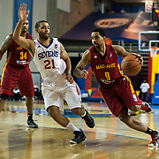 Fort Wayne Mad Ants Guard Anthony Harris (9) drives past Delaware 87ers Guard Kendall Marshall (21) in the second half of a NBA D-league regular season basketball game between the Delaware 87ers and The Fort Wayne Mad Ants Sunday, Dec. 15, 2013 at The Bob Carpenter Sports Convocation Center, Newark, DE
