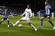 Leeds United forward Tyler Roberts (11)  during the EFL Sky Bet Championship match between Sheffield Wednesday and Leeds United at Hillsborough, Sheffield, England on 28 September 2018.