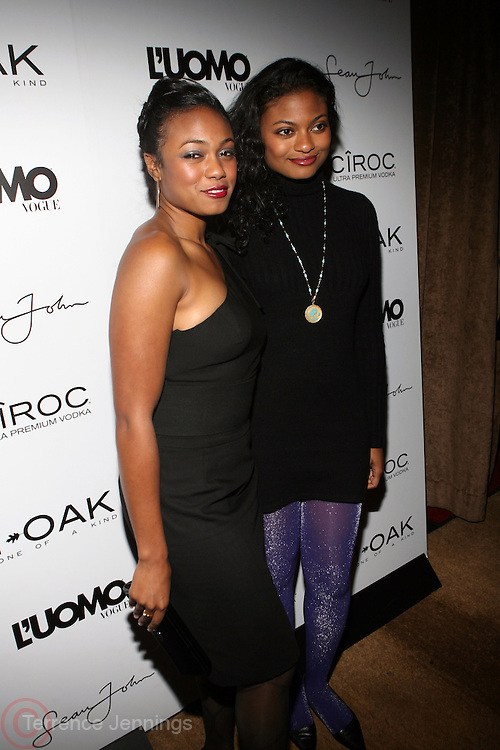"Tantyana Ali and Anastasia Ali pictured at the cocktail party celebrating Sean ""Diddy"" Combs appearance on the "" Black on Black "" cover of L'Uomo Vogue's October Music Issue"