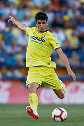 July 17, 2018 - Villareal, Castellon, Spain - Gerard of Villarreal CF kicks the ball during the Pre-Season Friendly match between Villarreal CF and Hercules CF at Mini Estadi on July 17, 2018 in Vila-real, Spain  (Credit Image: © David Aliaga/NurPhoto via ZUMA Press)