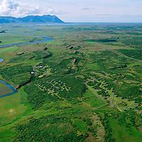Múnaðarnes séð til suðvesturs, Norðurá. Borgarbyggð áður Stafholtstungnahreppur / Munadarnes viewing southwest, Nordura river. Borgarbyggd former Stafholtstungnahreppur.
