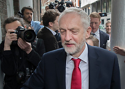 © Licensed to London News Pictures. 12/05/2017. London, UK. Labour party leader Jeremy Corbyn arrives to make speech outlining his national security and foreign policy at Chatham House. The general election is on June 8, 2016. Photo credit: Peter Macdiarmid/LNP