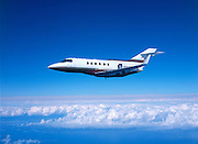 Hawker 800 in flight