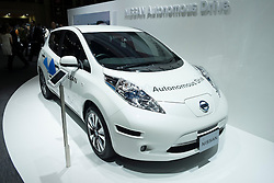 Toyota Leaf electric driverless Autonomous Drive car concept at Tokyo Motor Show 2013 in Japan
