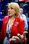 Arizona Governor Jan Brewer on the floor after the Acceptance speech by Presidential Hopeful Mitt Romney at the GOP National Convention held at the Tampa Bay Forum.