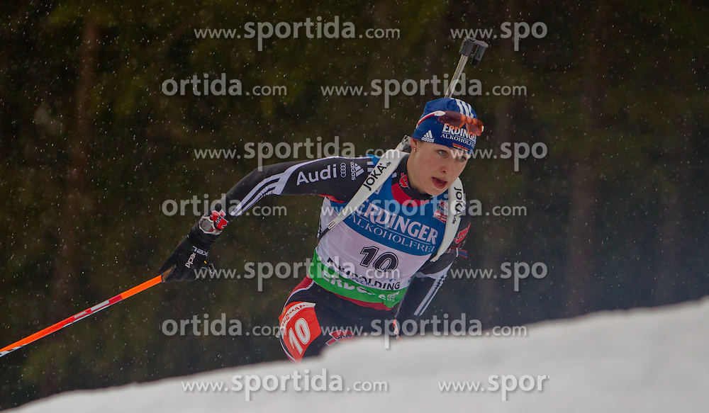 13.01.2011, Chiemgau Arena, GER, IBU Biathlon Worldcup, Ruhpolding, Individual Women, im Bild Magdalena Neuner (GER) // Magdalena Neuner (GER) during IBU Biathlon World Cup in Ruhpolding, Germany, EXPA Pictures © 2011, PhotoCredit: EXPA/ J. Feichter