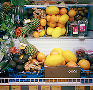 Halden Prison, Norway, June 2014:<br /> Fruit and vegetables in the prison grocery store. The prisoners buy their own food to prepare in a shared kitchen.<br /> -- No commercial use --<br /> Photo: Knut Egil Wang/Moment/INSTITUTE