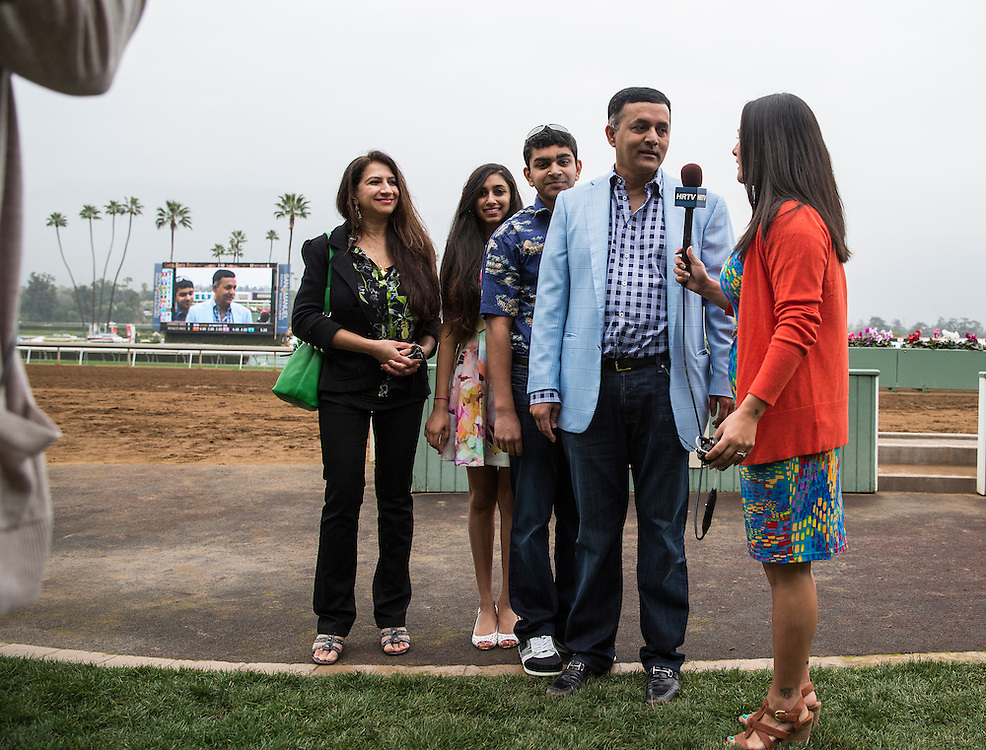 February 07 2015: Kaleem Shaw at Santa Anita Park in Arcadia CA. Alex Evers/ESW/CSM