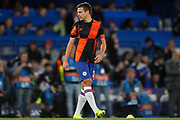 Chelsea defender César Azpilicueta (28) warming up before the Champions League match between Chelsea and Valencia CF at Stamford Bridge, London, England on 17 September 2019.