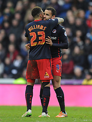 Reading Al Robson-Kanu Celebrates His Goal Reading First at Derby, Derby County v Reading, FA Cup 5th Round, The Ipro Stadium, Saturday 14th Febuary 2015