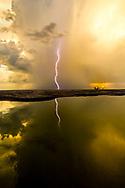 Lightning Sunset Gulf of Mexico