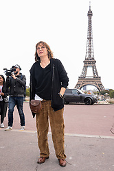Jane Birkin attending the Hermes Fashion Show at Trocadero during Paris Fashion Week Spring Summer 2018 held in Paris, France on October 2, 2017. Photo by Julien Reynaud/APS-Medias/ABACAPRESS.COM