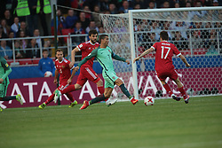 June 21, 2017 - Moscow, Russia - Cristiano Ronaldo of the Portugal national football team vie for the ball during the 2017 FIFA Confederations Cup match, first stage - Group A between Russia and Portugal at Spartak Stadium on June 21, 2017 in Moscow, Russia. (Credit Image: © Igor Russak/NurPhoto via ZUMA Press)