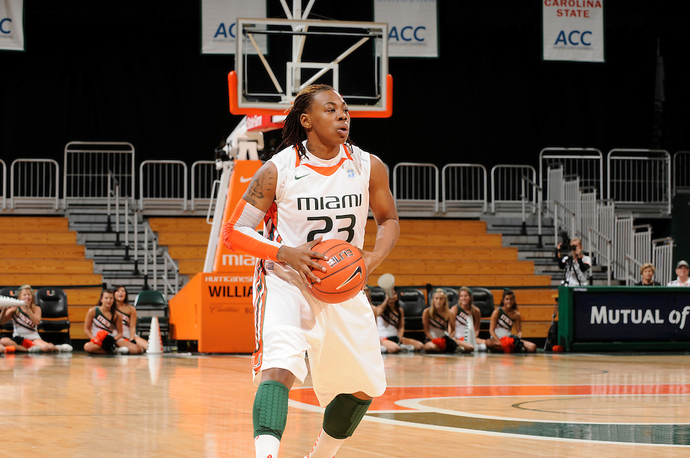 2012 Miami Hurricanes Women's Basketball vs Maryland