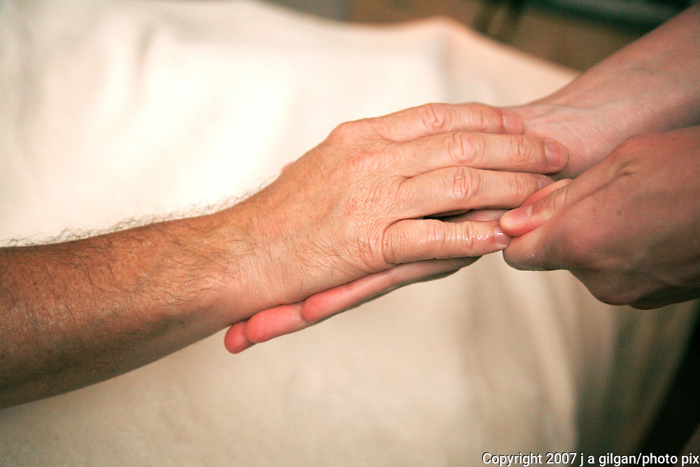 Hand and finger massage during Swedish massage session.
