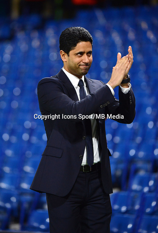 Nasser AL KHELAIFI - 11.03.2015 - Chelsea / Paris Saint Germain - 1/8Finale retour Champions League<br /> Photo : Dave Winter / Icon Sport