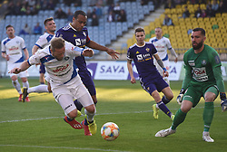 Jure Travner of Celje and Marcos Magno Morales Tavares of Maribor in action during football match between NK Maribor and NK Celje in Round #24 of Prva liga Telekom Slovenije 2018/19, on March 30, 2019 in stadium Ljudski vrt, Maribor, Slovenia. Photo by Milos Vujinovic / Sportida