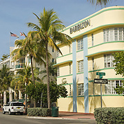 Barbizon Hotel on Ocean Drive in South Beach, Miami. This art deco hotel was designed by Henry Hohauser in 1937.