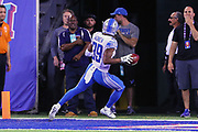 EAST RUTHERFORD, NJ - SEPTEMBER 18:  Detroit Lions cornerback Jamal Agnew (39) returns a punt for a touchdown during the National Football League game between the New York Giants and the Detroit Lions on September 18, 2017, at MetLife Stadium in East Rutherford, NJ. (Photo by Rich Graessle/Icon Sportswire)