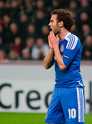 23.11.2011, BayArena, Leverkusen, Germany, UEFA CL, Gruppe E, Bayer 04 Leverkusen (GER) vs Chelsea FC (ENG), im Bild Chelsea's Juan Mata looks dejected as his side are defeated 2-1 by Bayer Leverkusen during the football match of UEFA Champions league, group E, between Bayer Leverkusen (GER) and FC Chelsea (ENG) at BayArena, Leverkusen, Germany on 2011/11/23. EXPA Pictures © 2011, PhotoCredit: EXPA/ Sportida/ David Tickle..***** ATTENTION - OUT OF ENG, GBR, UK *****