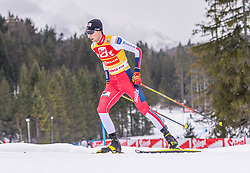 02.02.2020, Seefeld, AUT, FIS Weltcup Nordische Kombination, Langlauf, Gundersen 15 Km, im Bild Jarl Magnus Riiber (NOR) // Jarl Magnus Riiber of Norway during the Gundersen 15 Km Cross Country Competition of FIS Nordic Combined World Cup at the Seefeld, Austria on 2020/02/02. EXPA Pictures © 2020, PhotoCredit: EXPA/ Stefan Adelsberger