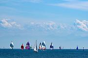 Segelboote auf dem See, Konstanz, Bodensee, Baden-Württemberg, Deutschland