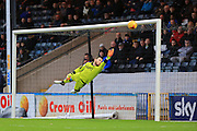Tommy Lee save during the Sky Bet League 1 match between Rochdale and Chesterfield at Spotland, Rochdale, England on 9 January 2016. Photo by Daniel Youngs.