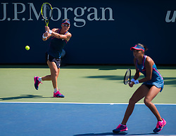 September 5, 2018 - Zhang Shuai of China & Sam Stosur of Australia during the doubles quarter-final at the 2018 US Open Grand Slam tennis tournament. New York, USA. September 05, 2018. (Credit Image: © AFP7 via ZUMA Wire)