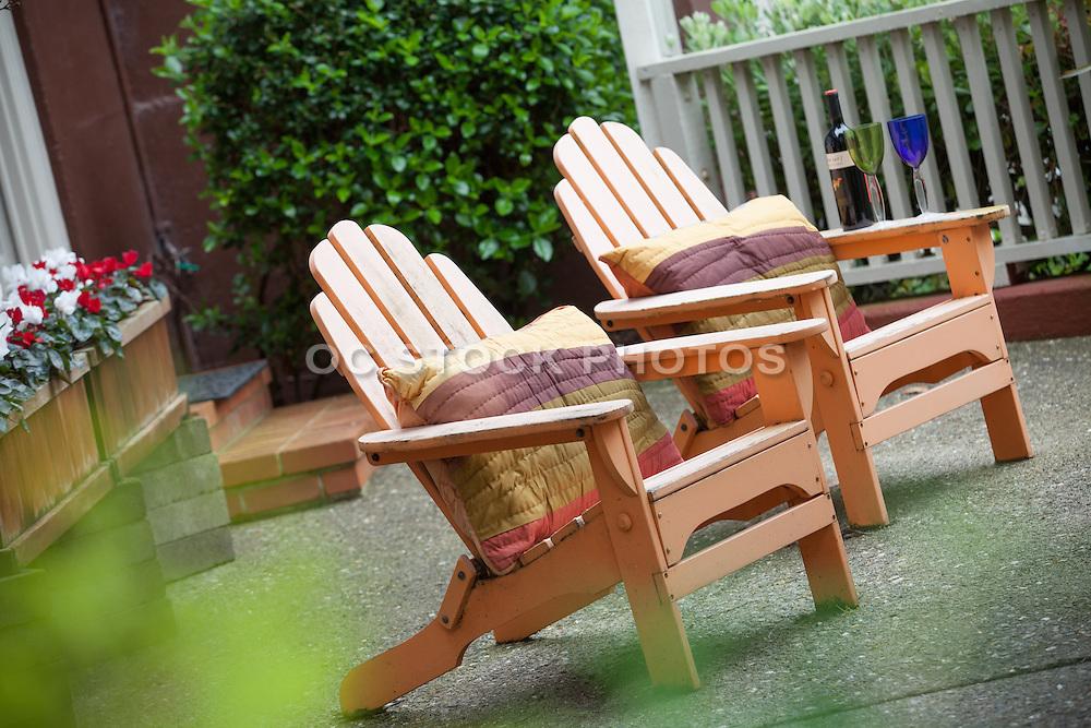 Adirondack Chairs with Designer Pillows