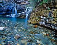 Cameron Falls in Waterton Lakes National Park in Alberta Canada