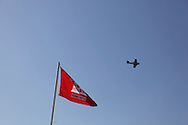 A WWII era plane does a flyover. Vietnam Veterans gather in Kokomo, Indiana for the 2009 reunion.