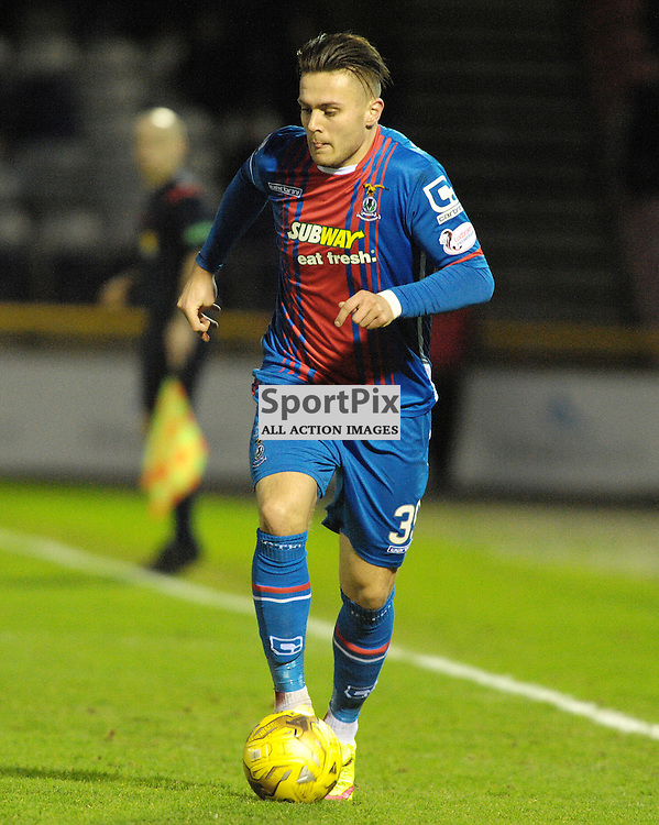 Miles Storey , (ICT, Blue &amp; Red)<br /> <br /> Inverness Caledonian Thistle v Ross County, Ladbroke's Premiership, Saturday 2nd January 2016<br /> <br /> (c) Alex Todd | SportPix.org.uk