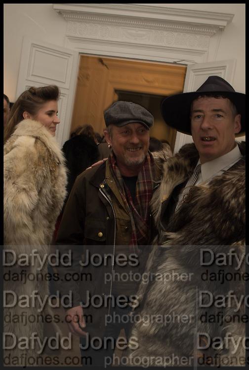 ELINOR FAHRMAN; GARY CHAPMAN; GAZ MAYALL;, Private view, Paul Simonon- Wot no Bike, ICA Nash and Brandon Rooms, London. 20 January 2015