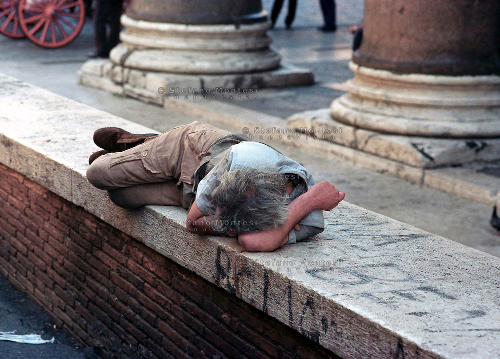 Homeless al Pantheon