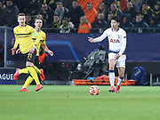 Son Heung-min of Tottenham Hotspur attacking during the Champions League round of 16, leg 2 of 2 match between Borussia Dortmund and Tottenham Hotspur at Signal Iduna Park, Dortmund, Germany on 5 March 2019.