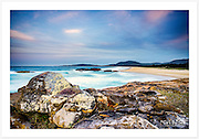 The magnificent view across Trial Bay from Point Briner at twilight [South West Rocks, NSW]<br />