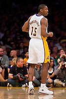 25 December 2011: Forward Metta World Peace of the Los Angeles Lakers against the Chicago Bulls during the first half of the Bulls 88-87 victory over the Lakers at the STAPLES Center in Los Angeles, CA.