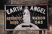 "RADON CURE: Defunct gold and uranium mines south of Helena, Montana, attract ailing tourists, who bask in radioactive radon gas and drink radioactive water to improve their health. Each summer, hundreds of people, come to the radon health mines to relax and treat arthritis, lupus, asthma and other chronic cripplers. The mineshaft touts radon levels as much as 175 times the federal safety standard for houses. The typical vacation lasts any where from a week to two weeks and visitors are recommended to sit in the mine two or three times a day. The permitted total visit is determined by the radiation level of the particular mine. The average visitor is 72 years old. The mines appeal to ""plain people,"" such as the Amish or the Mennonites, because of the ""natural"" healing aspects, the lack of commercialization, and the relatively low cost-per-hour for treatment sessions. (1991)"