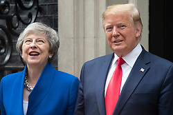 © Licensed to London News Pictures. 04/06/2019. London, UK. US President Donald Trump meets with British Prime Minister Theresa May at 10 Downing Street during a state visit. Photo credit: Ray Tang/LNP