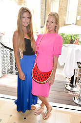 Left to right, KATIE READMAN and ALICE NAYLOR-LEYLAND at a ladies lunch at Toto's, Walton Street, London on 12th June 2014.