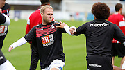 Barry Bannan warming up before the Pre-Season Friendly match between Hampton & Richmond and Crystal Palace at Beveree Stadium, Richmond Upon Thames, United Kingdom on 27 July 2015. Photo by Michael Hulf.