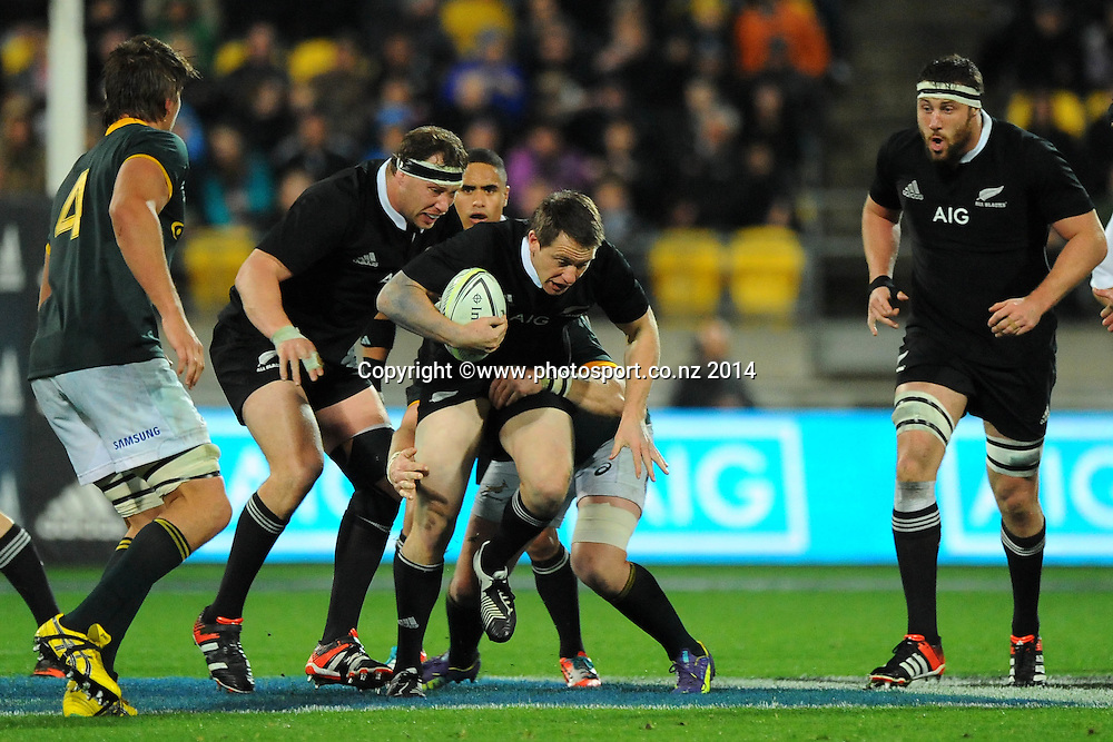 All Black Ben Smith during the Rugby Championship Rugby Union Test Match New Zealand All Blacks v South Africa. Westpac Stadium, Wellington, New Zealand. Saturday 13 September 2014. Photo: Chris Symes/www.photosport.co.nz