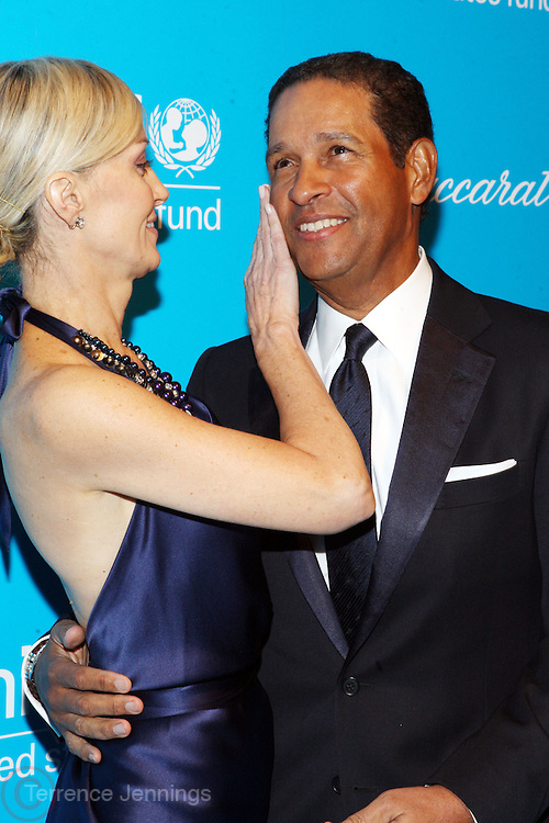 30 November 2010- New York, NY-l to r: Hilary Gumbel and Brian Gumbel at The Seventh Annual UNICEF Snowflake Ball Presented by Baccarat on November 30, 2010 and held at Cipriani 42nd Street in New York City. Photo Credit: Terrence Jennings
